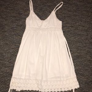 White dress with lace embellishment